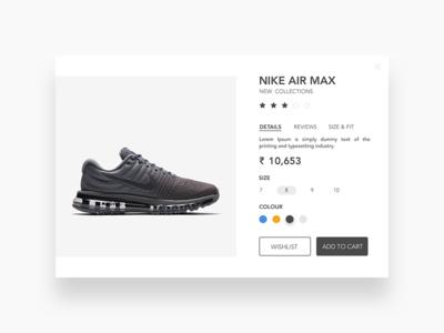 Nike Air Max - Cart Page