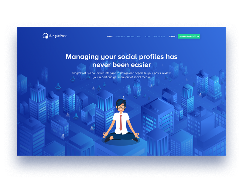 landing page ilustration graphics character new cool bule illustration landing