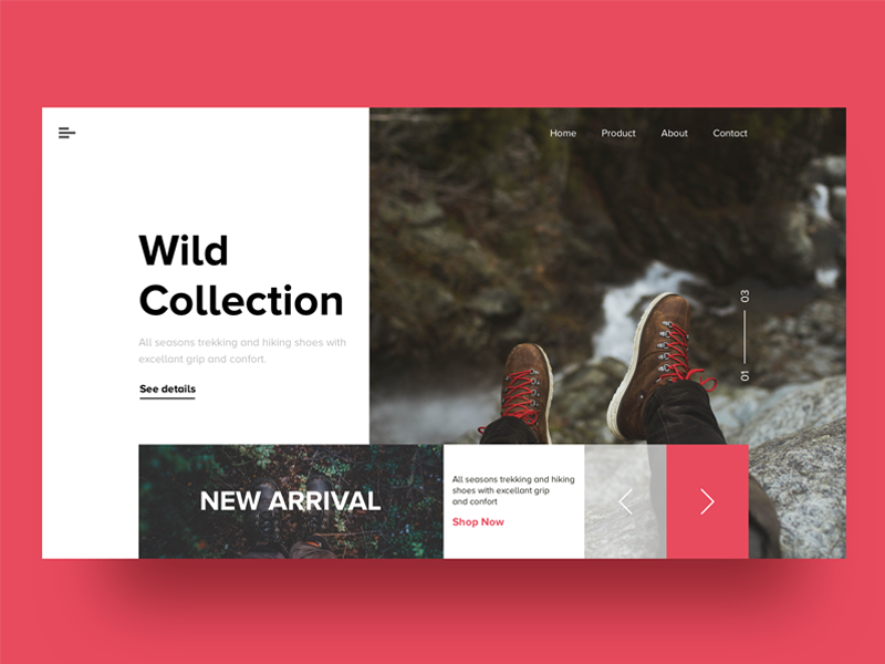 Landing Page - Wild Collection illustration creative design clean website onboarding app web cool arrival traveling trucking collection new ux ui landingpage