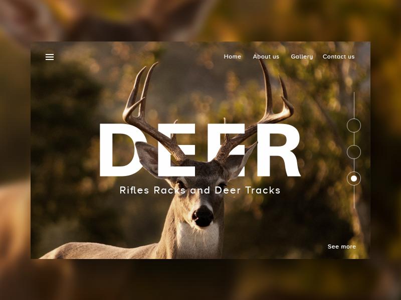landing page clean website landin page gallery cool forest new deer ux ui