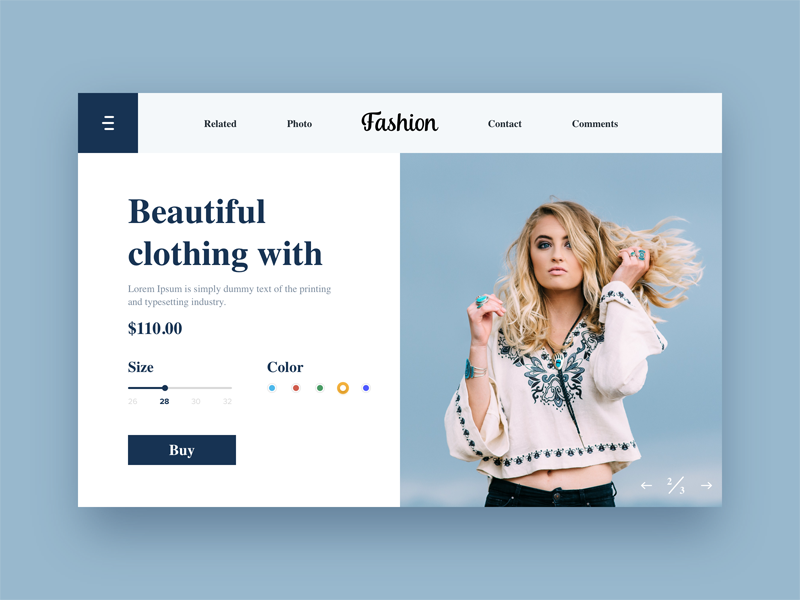 Fashion - Cart collection dress ux ui typo type new minimal design colors cart