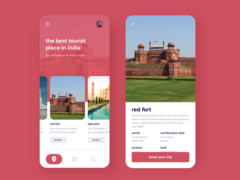App for travel creative trending new clean ui mobile ui app ios travell trip design ux ui