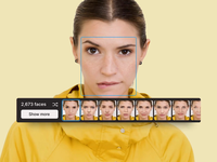 Face Swap UI dark figma creator application app web change girl interaction animation inter interface ux ui photo editor icons8 swap face