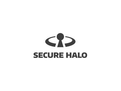 Secure Halo v1 secure halo icon keyhole lock logo