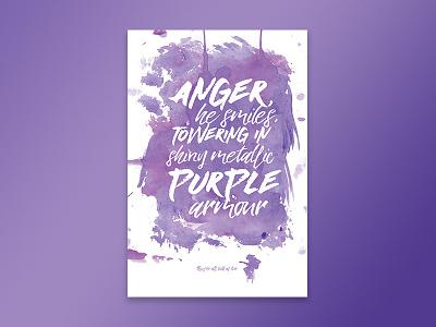 Jimi Hendrix - Bold As Love (Purple) paint bold as love wall art print download art digital poster lyrics song purple jimi hendrix