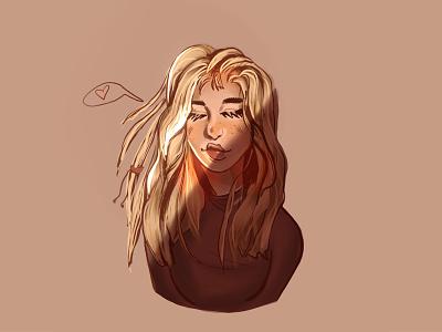 Indie Girl Illustration - Procreate indie art girl art art sketch drawing procreate design girl illustration girl indie illustration