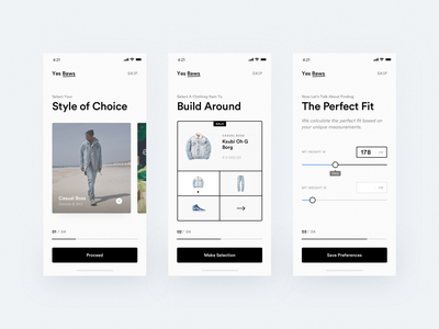 Shopping Assistant iOS App - Onboarding ux design shopping app clean typography iphone x ios app ux ui