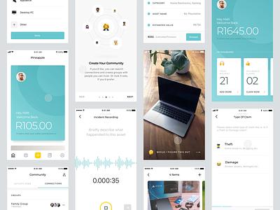 Pineapple - App Screens principle gif animation typography sketch design app ios clean ui