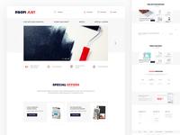 Art supplies website