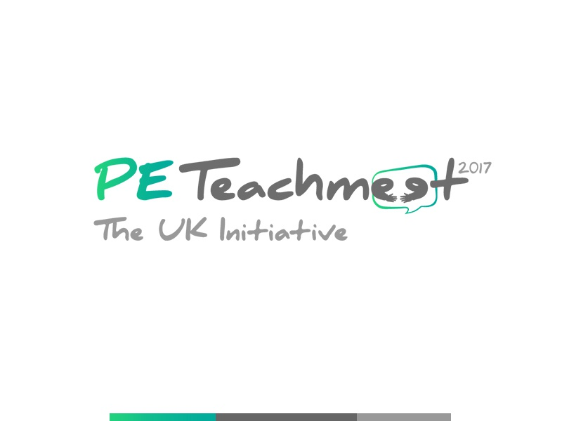 PE TeachMeet Logo 1 chat competition teaching pe teach branding design logo meet