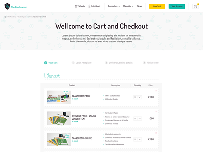 TheEverLearner Cart and Checkout