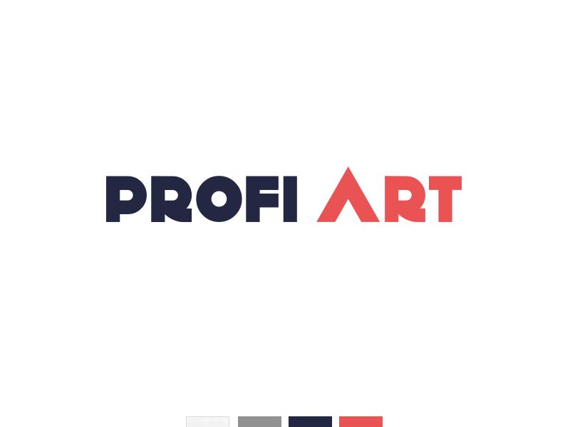 Logo Profi art store brand ui redesign logo art profi