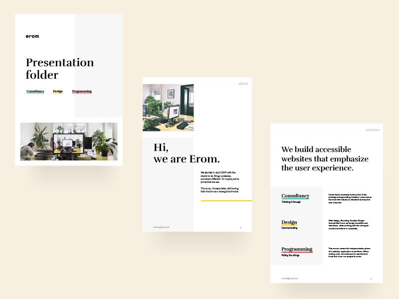 Company Presentation Folder agency brochure brochure graphic design agency folder presentation folder branding design