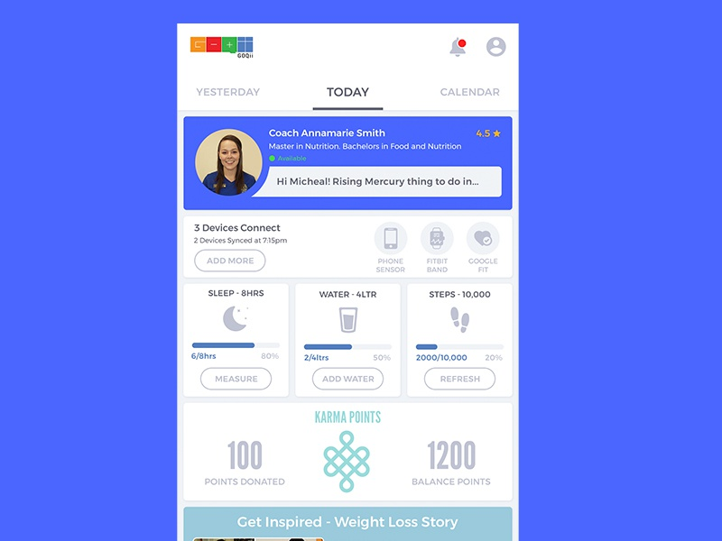 Redesign Concept userinterface fitnessapp healthapp concept ui appui
