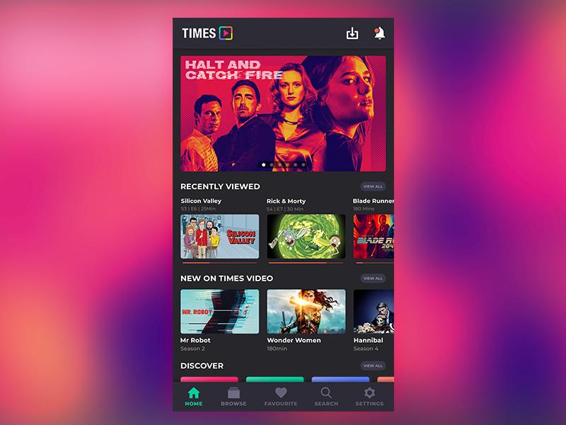 Video streaming app video streaming dark neon netflix appux userinterface appui videoapp