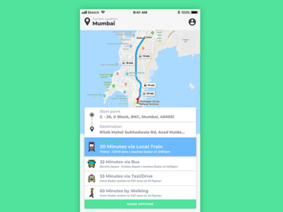 Intra-city commute app