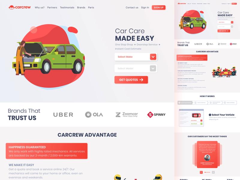 Carcrew - Concept Redesign
