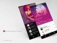 Music Player App design concept