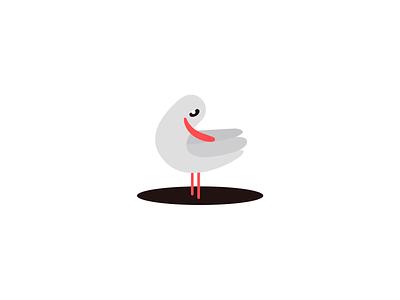 Seagull illustration logo branding corporate identity brand
