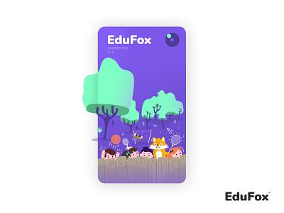 Loader EduFox illustration app brand corporate identity edufox