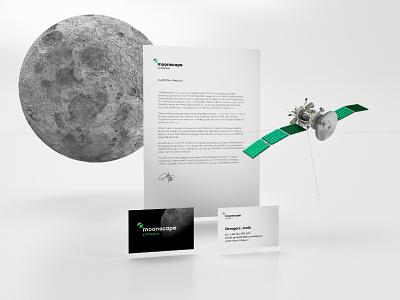 Moonscape Corporate Identity moon logo brand corporate identity