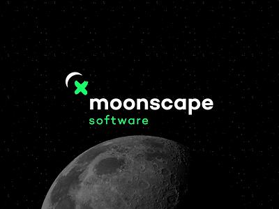 Moonscape Loop Concept moon concept logo corporate identity brand