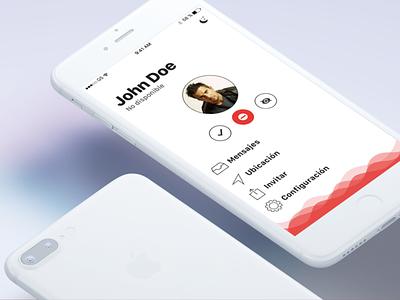 iOS App (wip) II profile home ui ux mobile social apple ios ios10 iphone app