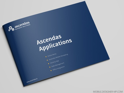 Mobile App Brochure Cover Design