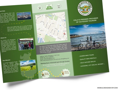 Travel Brochure Design Oslo By Vital Reznik  Dribbble