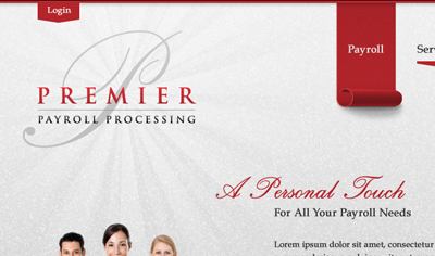 A Personal Touch web proximity focal point shiny glitter tabs script nav palatino