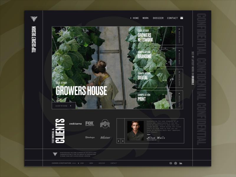 Top Secret  Redesign 2020 technology web design branding figma ui portfolio personal agency website web