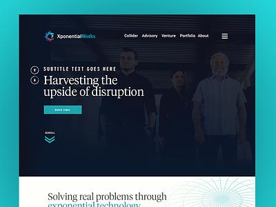 Xponential Works Website wordpress web design website tech venture technology