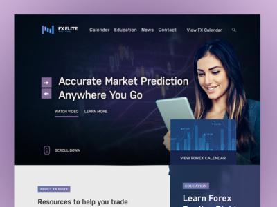 FX Elite web design purple website forex