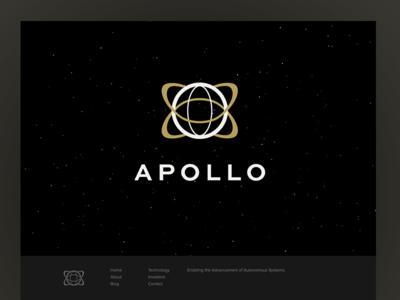 Apollo web design website start-up drone