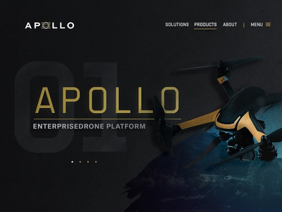 Apollo Product Page web tech space ecommerce shop ux ui technology website drone