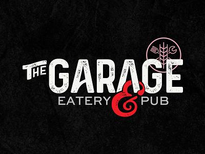 The Garage type logo restaurant wordmark pub