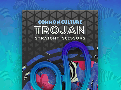 Trojan Scissors cannabis bright geometric geometry redesign tropical pattern logo branding packaging