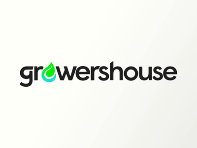 GrowersHouse technology geometric branding cannabis water leaf logo e-commerce hydroponics