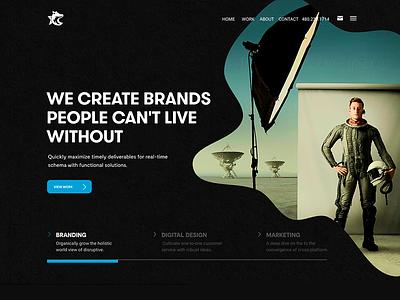Dogstar cmyk pop art agency website figma agency branding website design website web