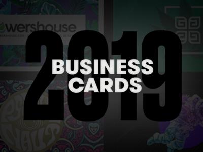Business Cards 2019 logo design cannabis identity branding business cards
