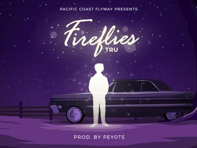 Fireflies Illustration for TRU x Peyote