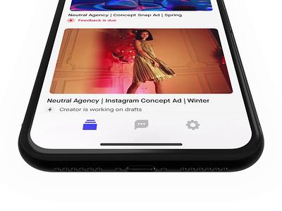 iOS Redesign animation mobile video product design vidmob light mode dark mode ui redesign ios