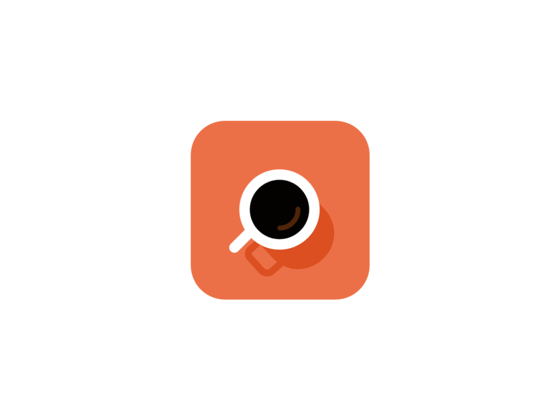 Daily UI Challenge #005 • App Icon daily ui 005 daily 100 005 daily ui challenge daily challenge ui illustration flat design adobe xd cup of coffee coffee app cup coffee ios mobile icon app