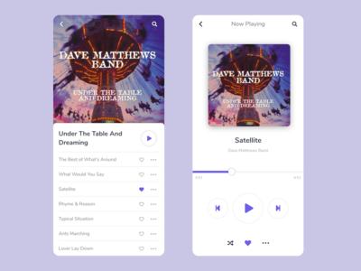 Daily UI Challenge #009 • Music Player