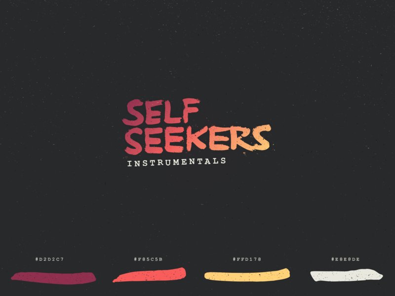 Self Seekers beat tape color palette guidelines brand hand drawn color palette music art color music type branding texture identity logo