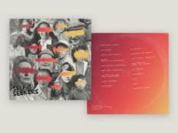 Self Seekers Album Art photography collage gradient orange vintage record vinyl cover art music texture identity