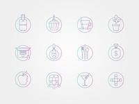 Job perks icon set
