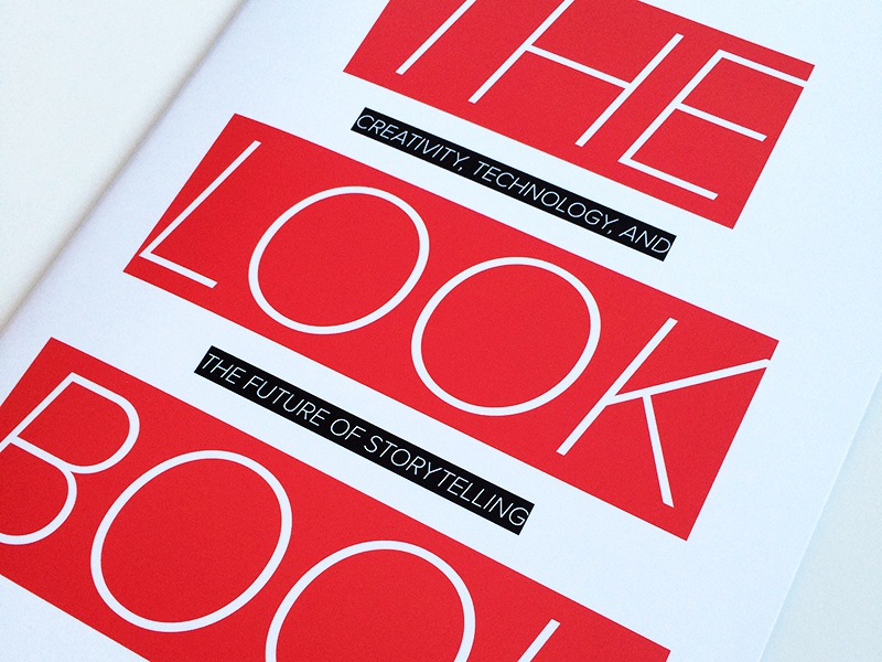 The Lookbook booklet cover red book swag event collateral print