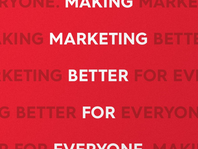 Identity marketing tagline type font caps brand red