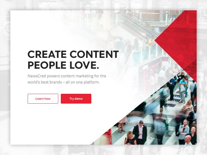 Identity gradient brand splash web triangle angle transparency treatment homepage